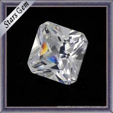 Quadrado, corte, cúbico, zirconia, gemstone, solto, contas