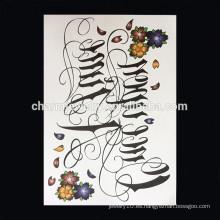 OEM Venta al por mayor tatuaje brazo de alta calidad brazalete tatuaje brazo mujeres tatuaje W-1001