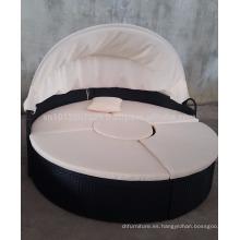Muebles de jardín / al aire libre de mimbre - Cama de sol redondo