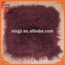 couleur du vin teints Tibet fourrure d'agneau coussin