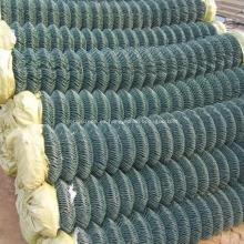 Cerca de enlace de cadena recubierta de PVC