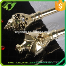 New design metal curtain rods with double curtain pipes