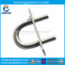 China Suppliers Stock A4 Stainless Steel U Bolts with Plate