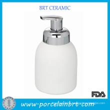 White Foam Ceramic Shapoo Bottle for Sale