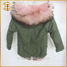European Style Fashion Jacket Kid Winter Warm Pelz Parka