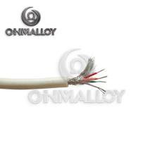 0,51 mm Tipo K Cable de termopar de alta temperatura Fibra de vidrio / trenza de acero inoxidable