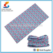 100% poliéster Multifuncional design do cliente sopr tubo bandana
