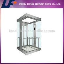 Ascensor de observación con cristal panorámico, pequeño ascensor de cristal