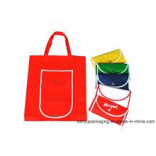 Fabricación Bolso no tejido plegable colorido reutilizable de Eco