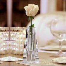 Venta al por mayor nuevo florero cristalino de cristal de la flor del diseño para la decoración casera