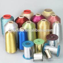 Reines silbernes metallisches Garn / Gold strickendes metallisches Garn / Phantasie metallisches Garn