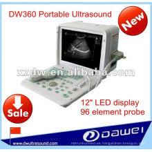 Full digital LED ultrasonido escáner máquina para ultrasonido DW360 portátil máquina de ultrasonido