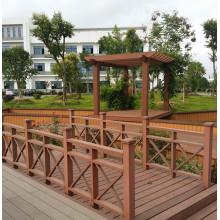 Pabellón de madera durable de WPC Pergola de la exposición compuesta al aire libre del pabellón de madera