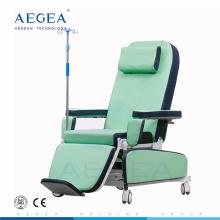AG-XD208B Asiento para pacientes con tratamiento médico silla de donante de sangre móvil con ajuste eléctrico