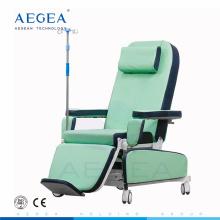 AG-XD208B Traitement médical des sièges des patients réglage de l'alimentation électrique chaise de donneur de sang mobile