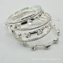VAGULA 2016 Fashion argent strass bracelet Set
