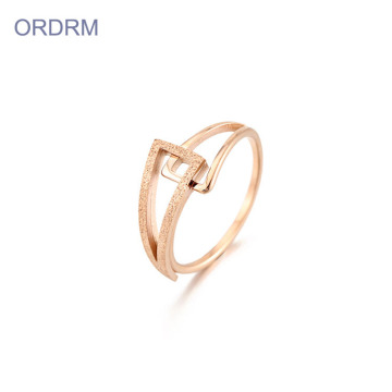 Enkel rostfritt stål Rose Gold Ring Band Wholesale