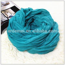 Polyester crumple light blue scarf