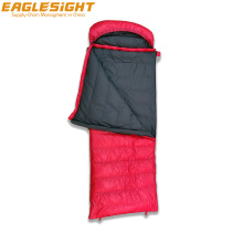 Water Repellent Ripstop Nylon Shell Envelope Duck Down Sleeping Bag 800g Two Side Zippers Winter Camping Sleeping Bag