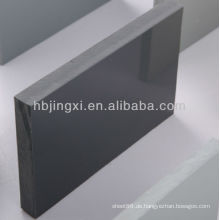 Hart-PVC-graues Blatt hochglänzend
