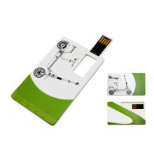 Forma de tarjeta de crédito de ABS forma USB Flash Drive con servicio gratuito de impresión de logotipos
