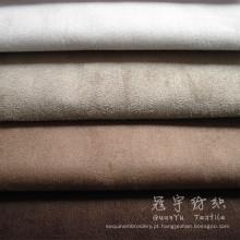 Tecido de camurça do falso para têxteis-lar com base de tecido