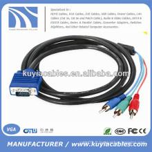 Câble VGA 15 broches à 3 câbles RCA