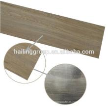 Tablones de piso de PVC de superficie en relieve con superficie en seco