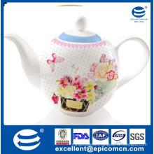 1200cc porcelain water jug for Turkish market with beautiful design printing