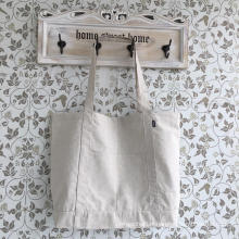 Promotional Hot Sale Hemp Shopping Bag with Pocket Outside