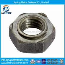 Tuerca de soldadura hexagonal de punto de acero DIN929
