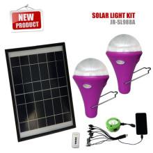 Productos más nuevos del 2015 CE inicio Iluminación Solar para la iluminación de casa con 2 luces LED