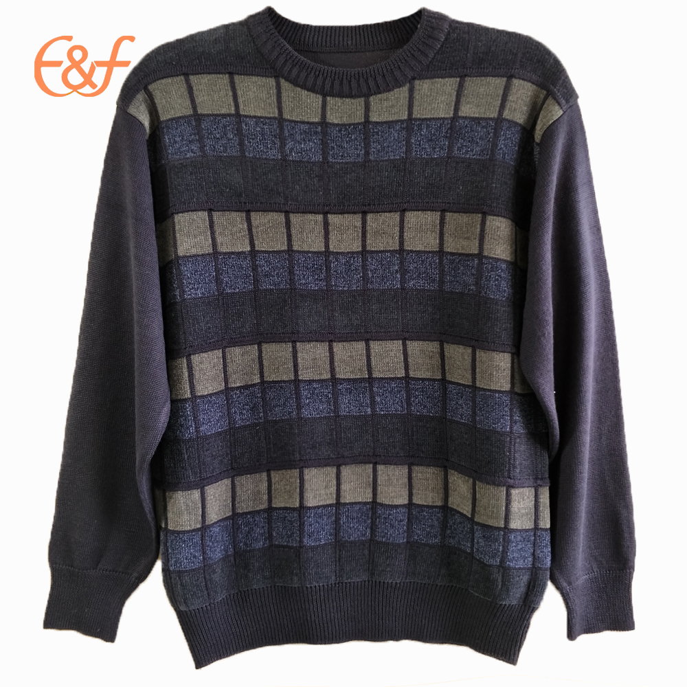 Acrylic Men Pullover Knitted Sweater Jumpers For Winter