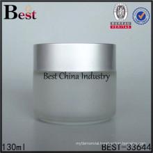 130ml cheap glass jar, cosmetic containers jar, glass gel jar
