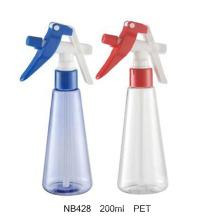 200ml pet gatilho pulverizador garrafa para jardim (nb422)