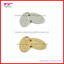 Custom Logo Engraved Jewelry Oval Tag Charm