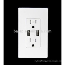 Good sale usb outlet usa wall socket with usb