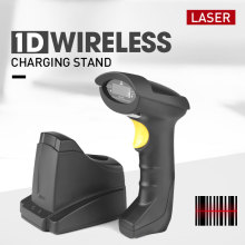 Handheld 1d wireless Laser Barcode Scanner with stand