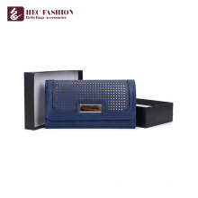 Хек пользовательские моды дизайн женщина бумажник дамы металла сцепление кошелек