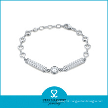Wholesale 925 Silver CZ Crysyal Jewelry Bracelet (SH-B0006)