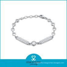 New Designed 925 Sterling Silver Fashion Bracelet for Valentine′s Day