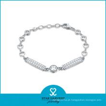 Novo projetado 925 pulseira de moda de prata esterlina para o dia dos namorados
