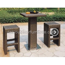PE Wicker Cheap Outdoor Furniture Bar Sets