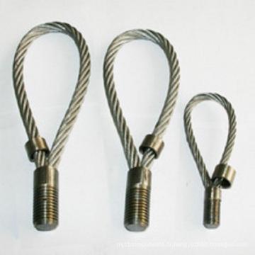 Boucles de câble métallique de levage préfabriquées pour le matériel de construction