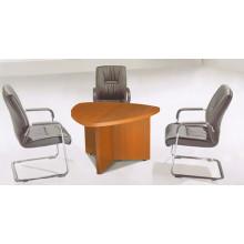 Mesa de conferência triangular de luxo com melamina para sala de reuniões