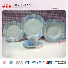 16шт ручной печати фарфор салат простой дизайн тарелка