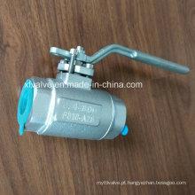 ANSI forjou a válvula de bola de aço inoxidável da extremidade da soldadura F316