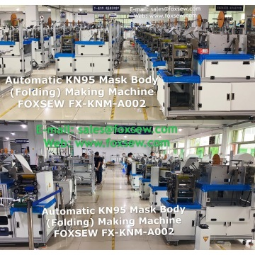 Automatic KN95 Mask Body (Folding Type) Making Machine