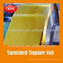 goldenen Lack und beschichtete Weißblech Spule für Farbe Deckel Produktion