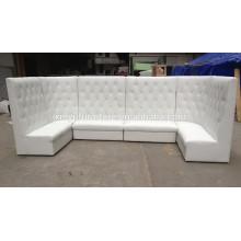 white Vinyl event high back sofa XYN936